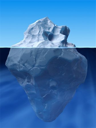 3d rendered illustration ofan ice berg Stock Photo - Budget Royalty-Free & Subscription, Code: 400-04486953