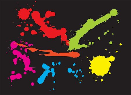 simsearch:400-04454583,k - Paint splat background. Vector illustration Stock Photo - Budget Royalty-Free & Subscription, Code: 400-04488678