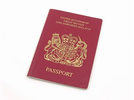 British passport in isolated white Stock Photo - Budget Royalty-Free & Subscription, Code: 400-04483273