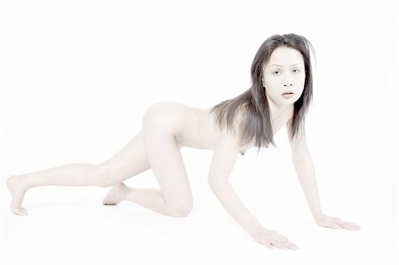 small breasts woman nude - Studio portrait of a naked asian girl  crawling Stock Photo - Budget Royalty-Free & Subscription, Code: 400-04483535