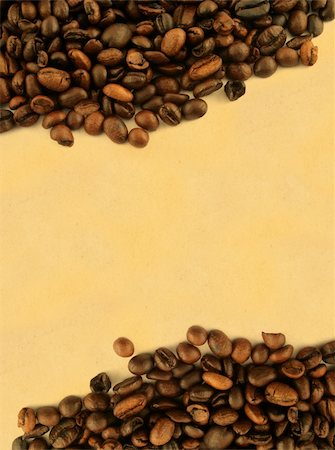 coffee frame against yellowed paper Stock Photo - Budget Royalty-Free & Subscription, Code: 400-04498648