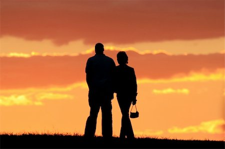 Girl and boy are walking away. Nice scenery. Stock Photo - Budget Royalty-Free & Subscription, Code: 400-04490065