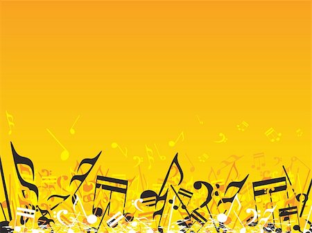 simsearch:400-04676325,k - vector illustration of beautifull musical notes background enjoy the party Stock Photo - Budget Royalty-Free & Subscription, Code: 400-04492226