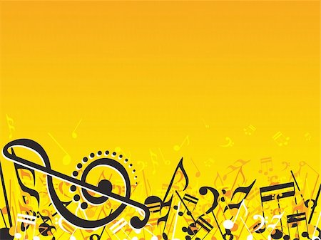 simsearch:400-04676325,k - vector illustration of beautifull musical notes background enjoy the party Stock Photo - Budget Royalty-Free & Subscription, Code: 400-04492232