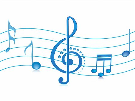 simsearch:400-04676325,k - vector illustration of beautifull shining musical notes isolated on white Stock Photo - Budget Royalty-Free & Subscription, Code: 400-04492271