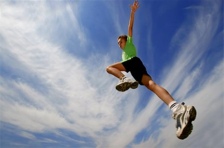 Young boy jumping Stock Photo - Budget Royalty-Free & Subscription, Code: 400-04504870