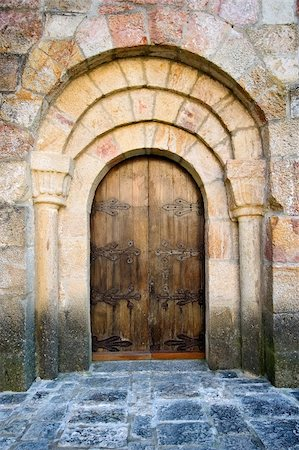 Door of Leire's monastery in Navarra (Spain) Stock Photo - Budget Royalty-Free & Subscription, Code: 400-04505290