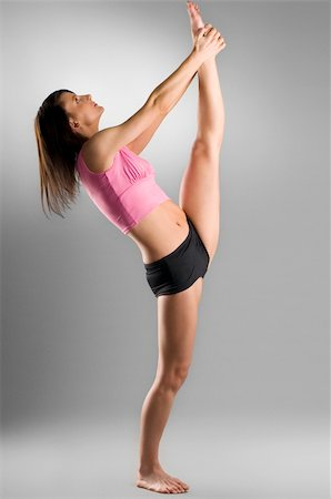 feet gymnast - pretty gymnast stretching her legs Stock Photo - Budget Royalty-Free & Subscription, Code: 400-04506032