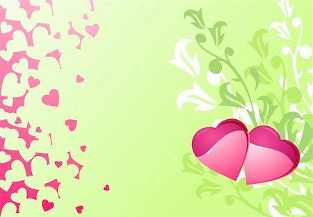 Love hearts and background / valentine's or wedding / vector illustration Stock Photo - Budget Royalty-Free & Subscription, Code: 400-04500502