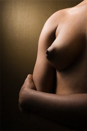 Close-up nude of young adult African-American female torse. Stock Photo - Budget Royalty-Free & Subscription, Code: 400-04510100