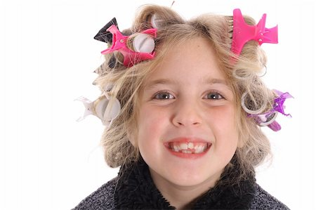 behind the scene beauty child Stock Photo - Budget Royalty-Free & Subscription, Code: 400-04510896