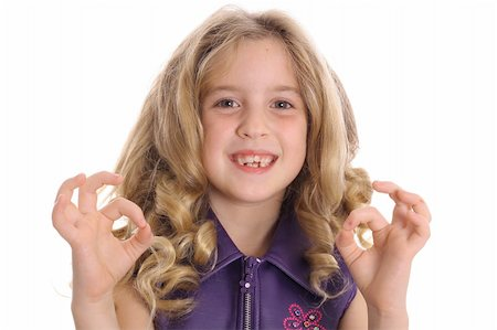 little girl ok Stock Photo - Budget Royalty-Free & Subscription, Code: 400-04510898