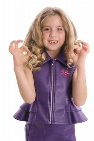 little girl ok vertical Stock Photo - Budget Royalty-Free & Subscription, Code: 400-04510899