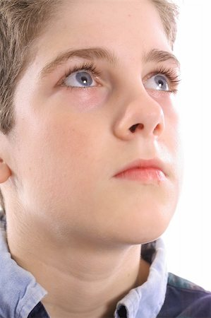 pre-teen boy models - blue eyed boy thinking Stock Photo - Budget Royalty-Free & Subscription, Code: 400-04510918