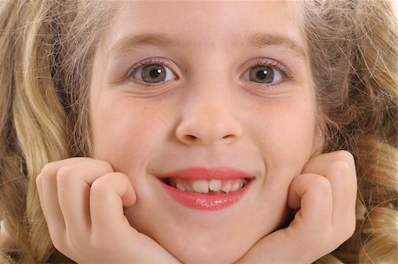 happy little girl headshot Stock Photo - Budget Royalty-Free & Subscription, Code: 400-04510910