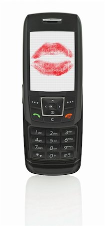 simsearch:400-04801287,k - love message in mobile phone, the image on the screen has a clearly visible net simulating display pixels Stock Photo - Budget Royalty-Free & Subscription, Code: 400-04525841