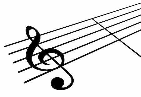 Music note. It is isolated on a white background. Stock Photo - Budget Royalty-Free & Subscription, Code: 400-04526602
