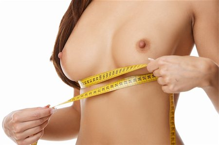 Woman measuring her body Stock Photo - Budget Royalty-Free & Subscription, Code: 400-04527104