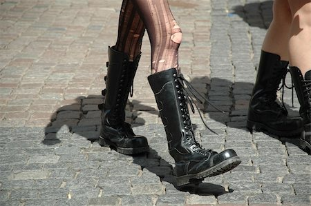 skinhead - Girls walking in boots Stock Photo - Budget Royalty-Free & Subscription, Code: 400-04520338