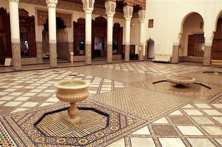 dreef - Rich decorated interior of Marrakech museum, Morocco Stock Photo - Budget Royalty-Free & Subscription, Code: 400-04521685