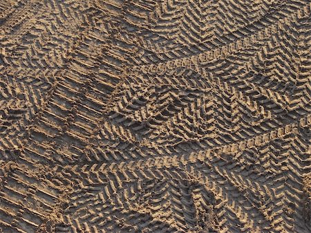 tyre prints on the construction site top view Stock Photo - Budget Royalty-Free & Subscription, Code: 400-04535746