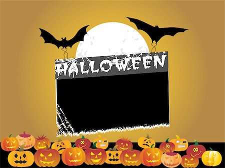 black frame with halloween background Stock Photo - Budget Royalty-Free & Subscription, Code: 400-04536229
