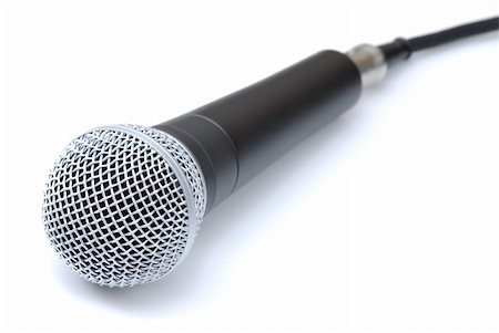 Vocal / Recording Microphone on an Isolated Background Stock Photo - Budget Royalty-Free & Subscription, Code: 400-04539171