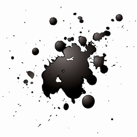 simsearch:400-04454583,k - ink splash with a 3d effect isolated on a white background Stock Photo - Budget Royalty-Free & Subscription, Code: 400-04530204