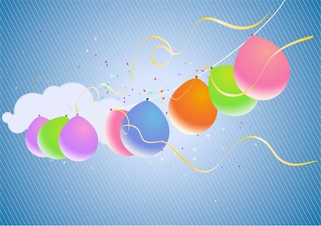 party celebration paper confetti - Colorful Party Balloons and Confetti - great for Invitation card for birthdays, anniversary and parties. Stock Photo - Budget Royalty-Free & Subscription, Code: 400-04531109