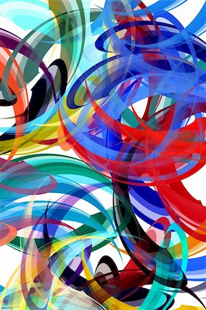 Colorful background in abstract painting style Stock Photo - Budget Royalty-Free & Subscription, Code: 400-04533621