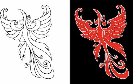 frbird - Firebird, mythical creature from russian tales, element for design, vector illustration Stock Photo - Budget Royalty-Free & Subscription, Code: 400-04545851