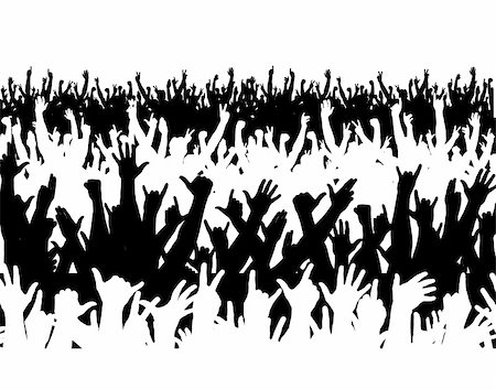 Editable vector illustration of a large crowd Stock Photo - Budget Royalty-Free & Subscription, Code: 400-04545984