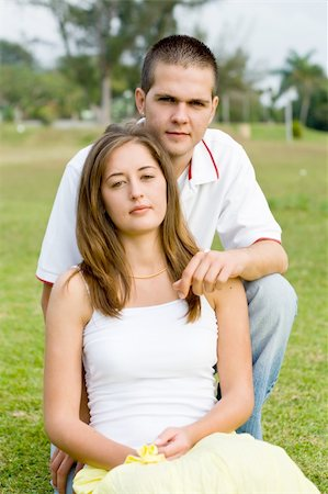 young couple in the garden Stock Photo - Budget Royalty-Free & Subscription, Code: 400-04549308