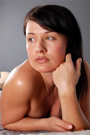 attractive brunette woman Stock Photo - Budget Royalty-Free & Subscription, Code: 400-04556226
