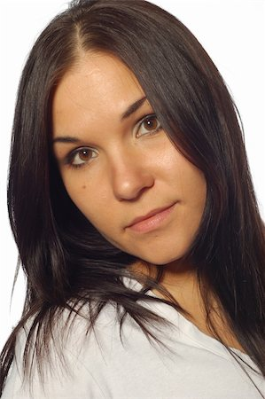attractive brunette woman Stock Photo - Budget Royalty-Free & Subscription, Code: 400-04556244