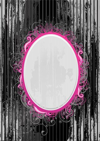 Vector illustration of black and pink oval frame Stock Photo - Budget Royalty-Free & Subscription, Code: 400-04566030