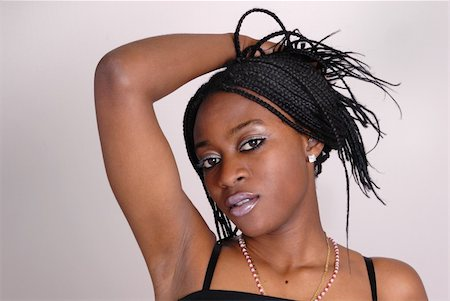 portrait of attractive young African girl Stock Photo - Budget Royalty-Free & Subscription, Code: 400-04563970