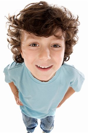 Caricature of a child a over white background Stock Photo - Budget Royalty-Free & Subscription, Code: 400-04574034