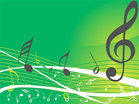simsearch:400-04676325,k - green musical background with different notes, wallpaper Stock Photo - Budget Royalty-Free & Subscription, Code: 400-04574098