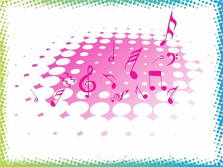 simsearch:400-04676325,k - music halftone on pink background, vector illustration Stock Photo - Budget Royalty-Free & Subscription, Code: 400-04574111