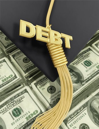 education loan - A Concept And Presentation Figure In 3D Stock Photo - Budget Royalty-Free & Subscription, Code: 400-04577394