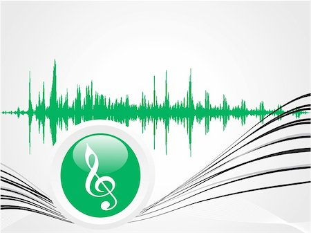 simsearch:400-04676325,k - green music icon with waves on gray wallpaper Stock Photo - Budget Royalty-Free & Subscription, Code: 400-04577769