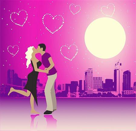 Valentine day, urban scene, couple Stock Photo - Budget Royalty-Free & Subscription, Code: 400-04579912