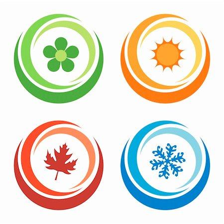 four seasons symbols concept Stock Photo - Budget Royalty-Free & Subscription, Code: 400-04589156