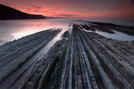 Flysch in Zumaia´s beach, Gipuzkoa (Spain) Stock Photo - Budget Royalty-Free & Subscription, Code: 400-04581013
