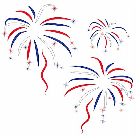 fireworks vector art - firework in honour of Independence Day Stock Photo - Budget Royalty-Free & Subscription, Code: 400-04594289