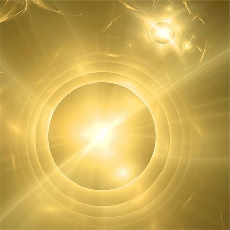Abstract background. Yellow - gold palette. Raster fractal graphics. Stock Photo - Budget Royalty-Free & Subscription, Code: 400-04594805
