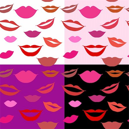 Seamless background lips, smiles Stock Photo - Budget Royalty-Free & Subscription, Code: 400-04597085