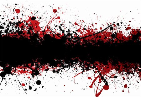 Blood red ink splat overlayed with black abstract banner Stock Photo - Budget Royalty-Free & Subscription, Code: 400-04598371