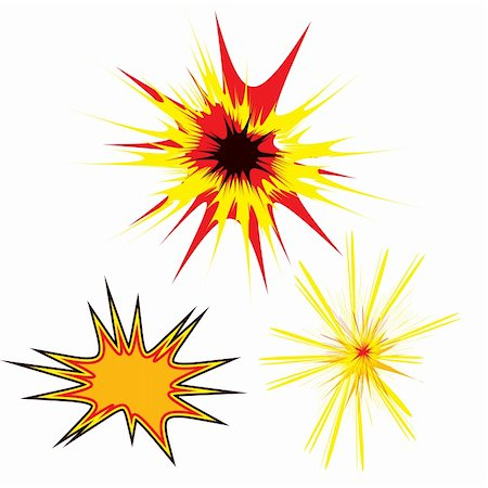 spark vector - Three colored stars in a cartoon style with copy space Stock Photo - Budget Royalty-Free & Subscription, Code: 400-04599273